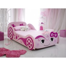 Pink Love Car Bed, Novelty Bed