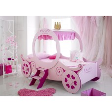 Princess Carriage Bed, Pink, Novelty Bed