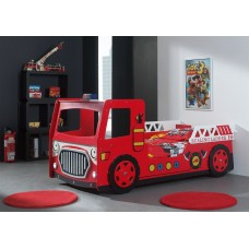 Fire Engine Bed, Red, Novelty Bed