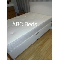 "Double Divan with 20"" Fabric or Leather Headboard"