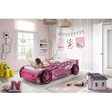 Pink Racing Car Bed, Novelty Bed