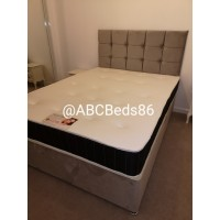 "Double Divan 24"" Cubed Headboard with Diamonds"