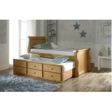 Sleigh Design Oak Captain Bed
