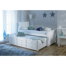Sleigh Design White Captain Bed