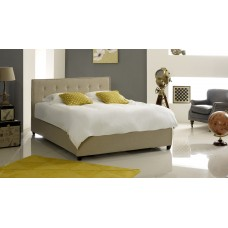 Button Fabric (King Size) Ottoman Bed Stone