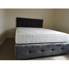 Single Button Cube Frame Bed with option to add foot end gas lift storage function