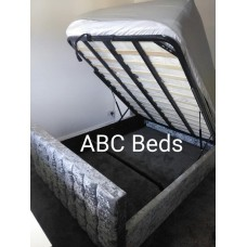 Double Button Cube Frame Bed with option to add foot end gas lift storage function