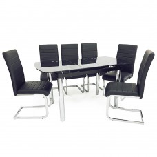 California  Extending Table & 6 Chairs
