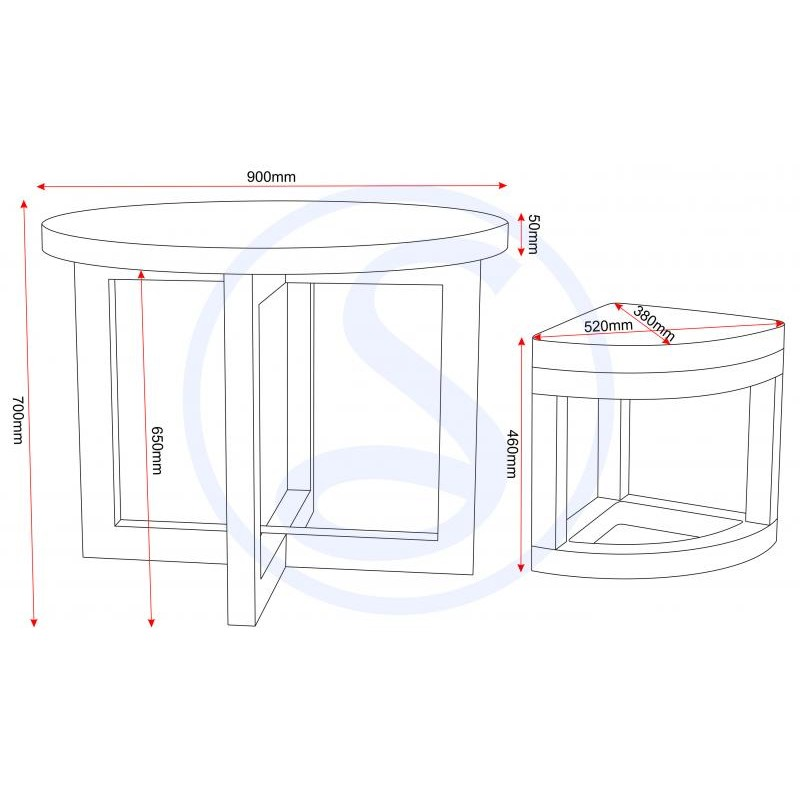 A Practical Dining Table Set Up For Rooms With Limited