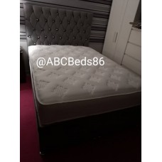 "Super King Divan 36"" Chesterfield Headboard with Diamonds"