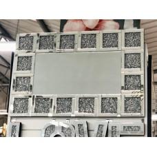 Diamond crush block wall mirror