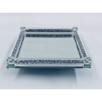 Crystal Cake Tray Large