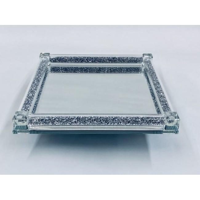 Crystal Cake Tray Large