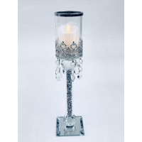 Crystal Single Candle Holder