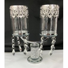 Crystal Double Candle Holder
