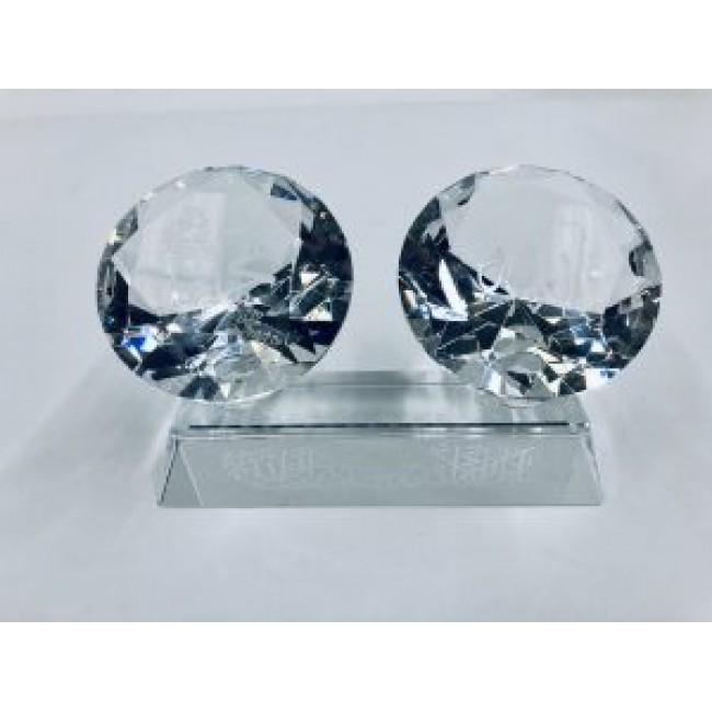 Crystal  Double Ornament