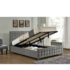 Double Diamond Cube Frame Bed with option to add foot end gas lift storage function