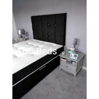 """King Size Ottoman 54"""" Cubed Headboard with Diamonds"""