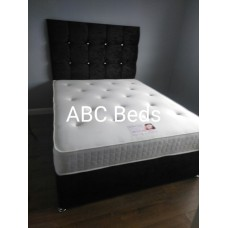 "Super King Divan 54"" Cubed Headboard with Diamonds"