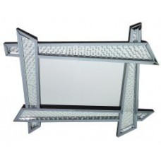 Floating Crystal Funky Frame Wall Mirror