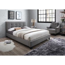 Grey Fabric Bed -King Size