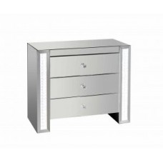 LED Mirrored Chest of Drawers