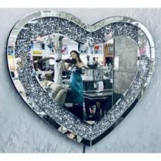 LED Diamond Crush Heart Mirror