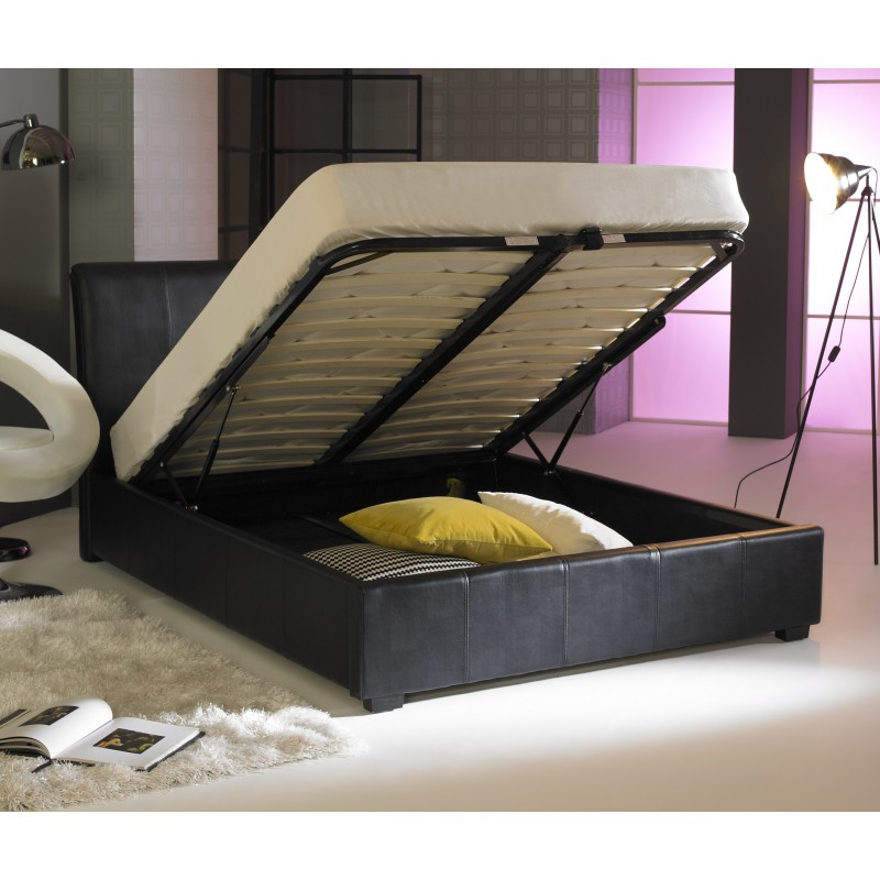 With A Black Leather Finish And Minimal Look This Ottoman Bed Is Ideal For Any Bedroom Shop For Better Ottoman Deals At Ayrshire Bed Company