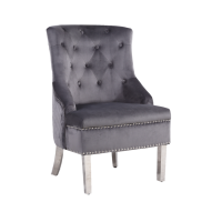 Grey Regal Bedroom Chair