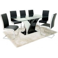 Miami Table + 6 Chairs