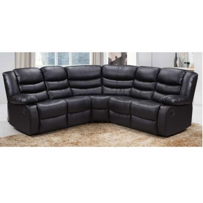 Swell Black Roma Leather Corner Sofa Ayrshire Bed Company Cjindustries Chair Design For Home Cjindustriesco