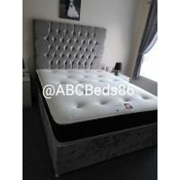 """Small Double Divan 36"""" Chesterfield Headboard with Buttons"""