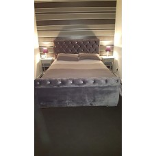Double Swan Frame Bed with option to add foot end gas lift storage function